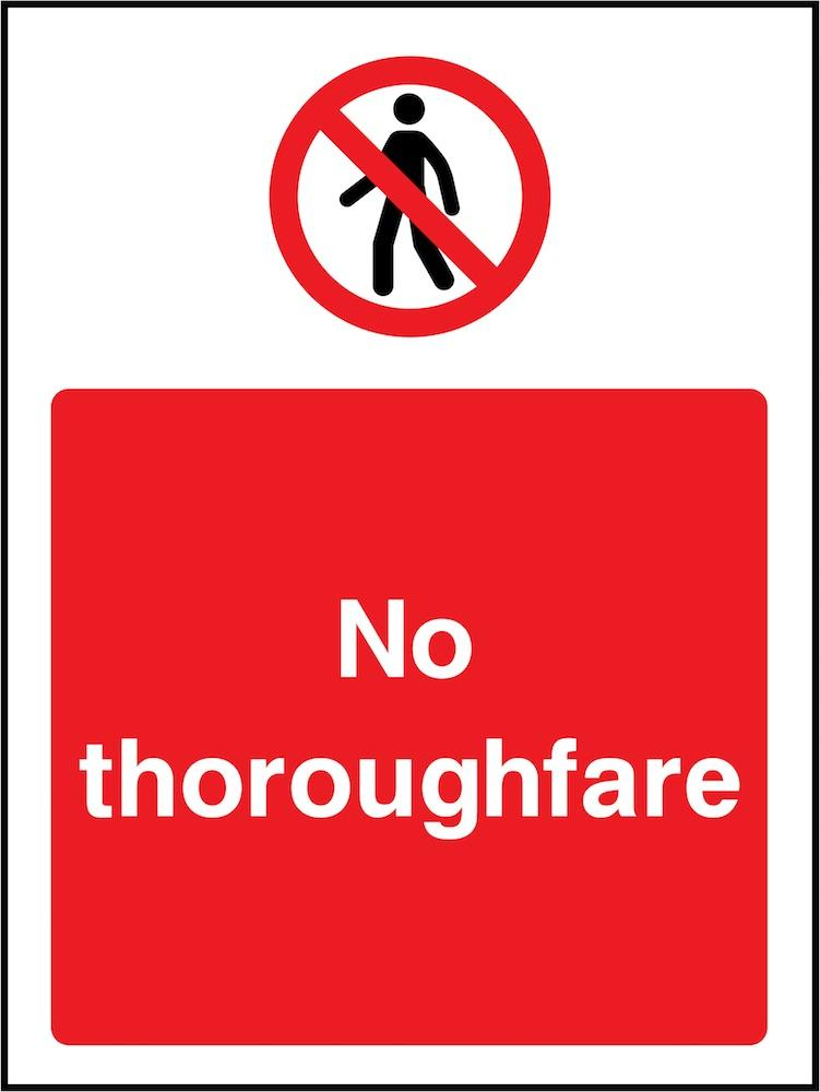 No Thoroughfare Sign | Elevate Signs