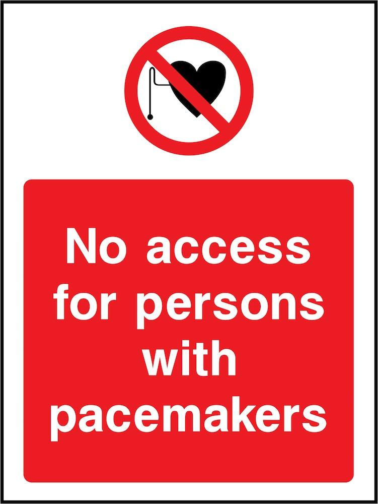 No Access for Persons With Pacemakers Sign | Elevate Signs