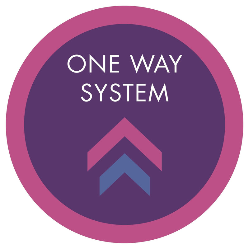 One Way System (Arrows) Floor Sticker | Elevate Signs