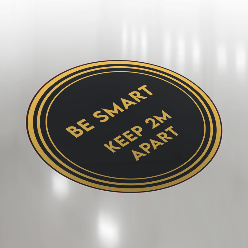 Be Smart: Keep Apart Floor Sticker | Elevate Signs