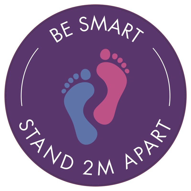 Be Smart: Stand Apart (Footprints) Floor Sticker | Elevate Signs