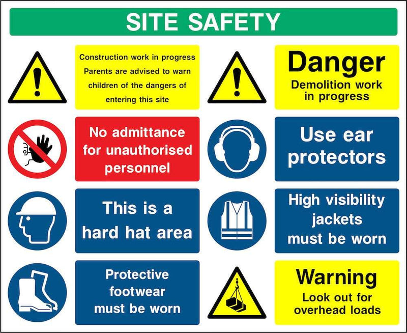 Demolition Multi-Hazard Site Safety Notice Sign | Elevate Signs