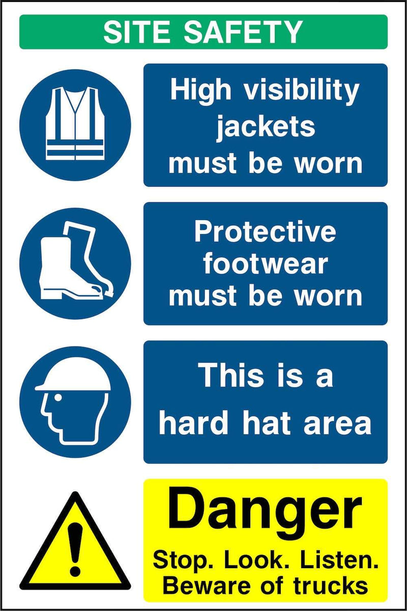 Four-Point, Multi-Hazard Site Safety Notice Sign | Elevate Signs