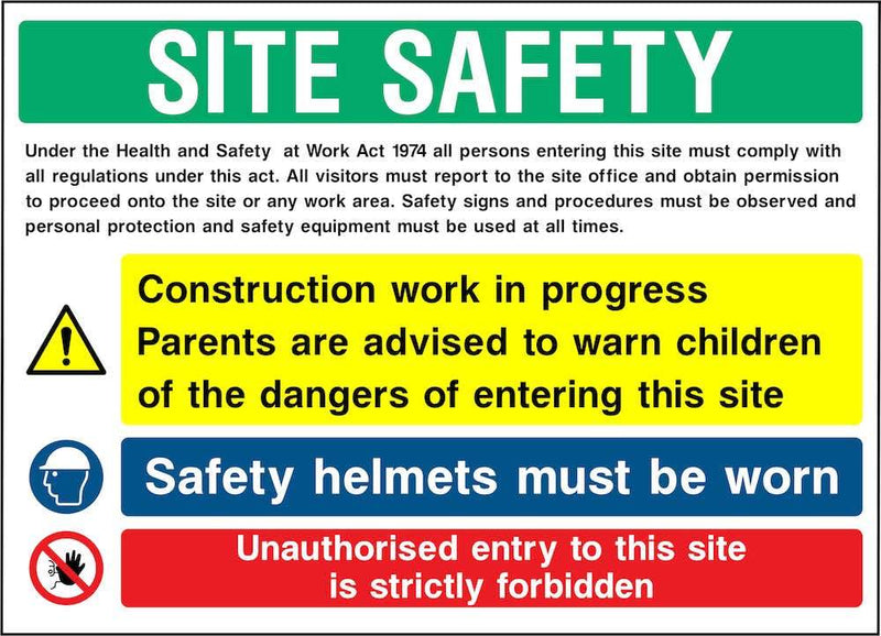 Site Safety Multi-Hazard Notice Sign