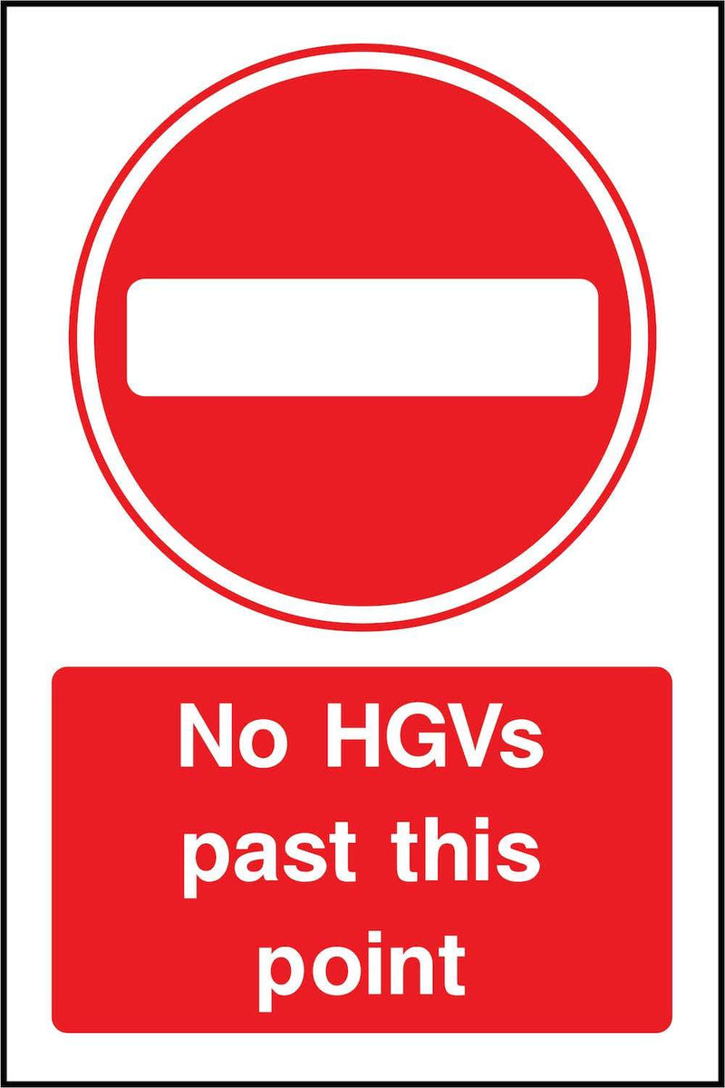 No HGVs Past This Point Sign