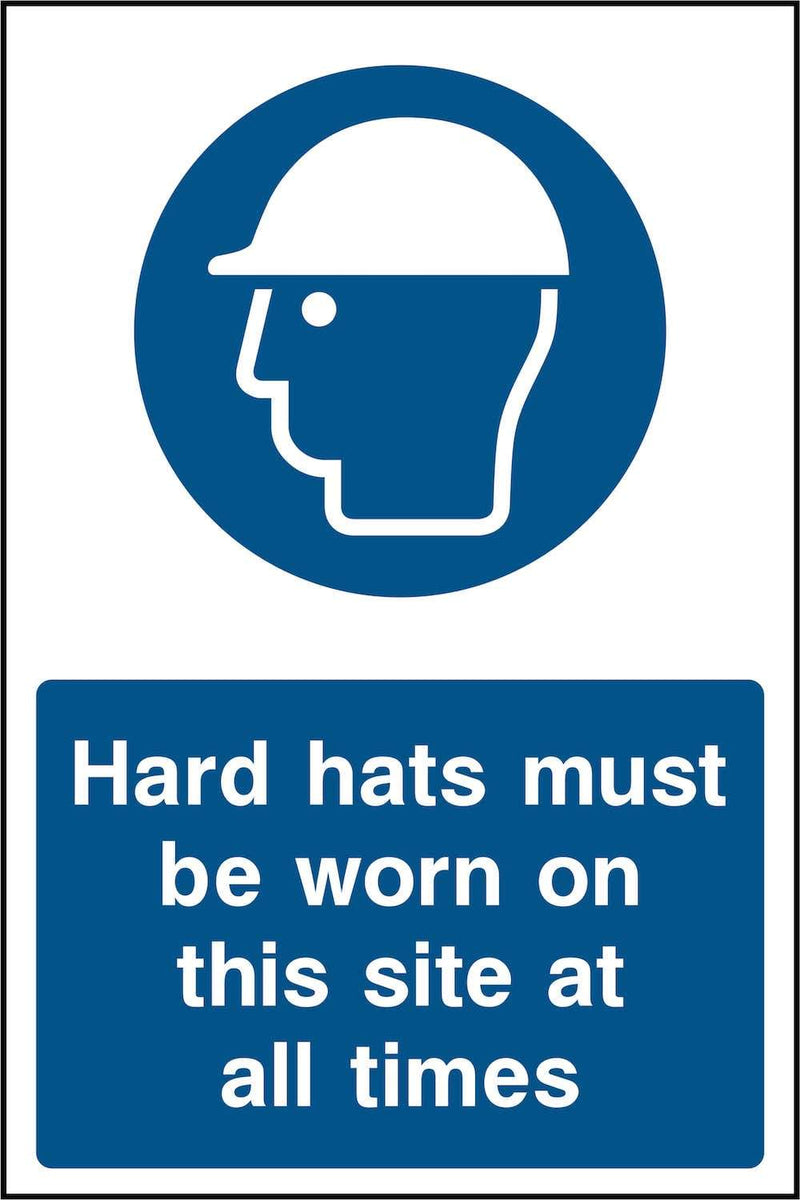 Hard Hats Must Be Worn At All Times Sign | Elevate Signs