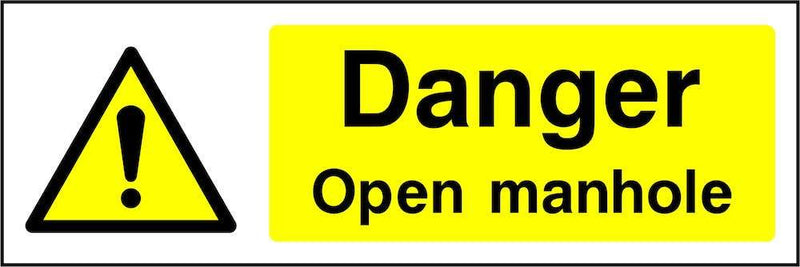 Danger: Open Manhole Sign | Elevate Signs