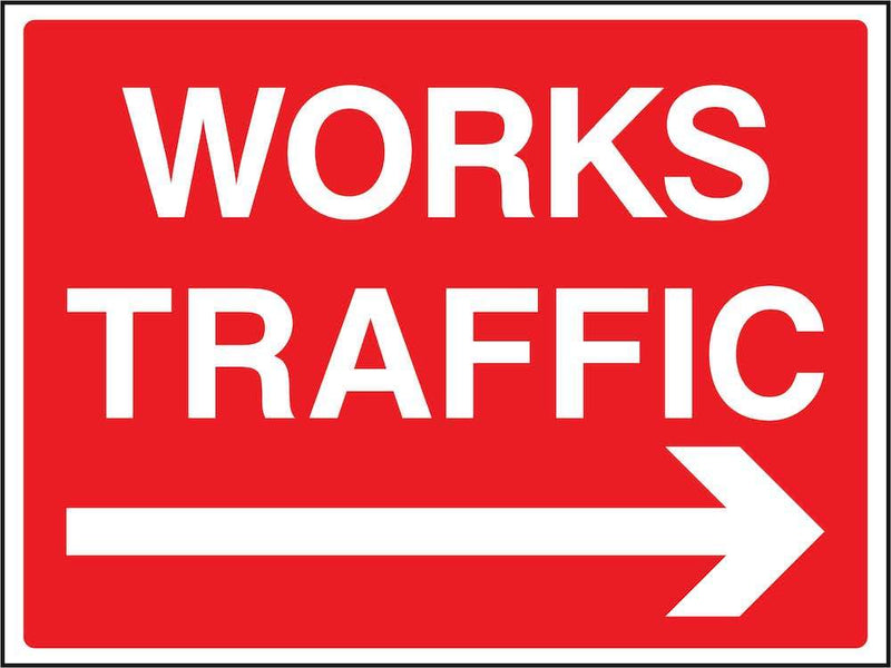 Works Traffic (Right Arrow) Sign