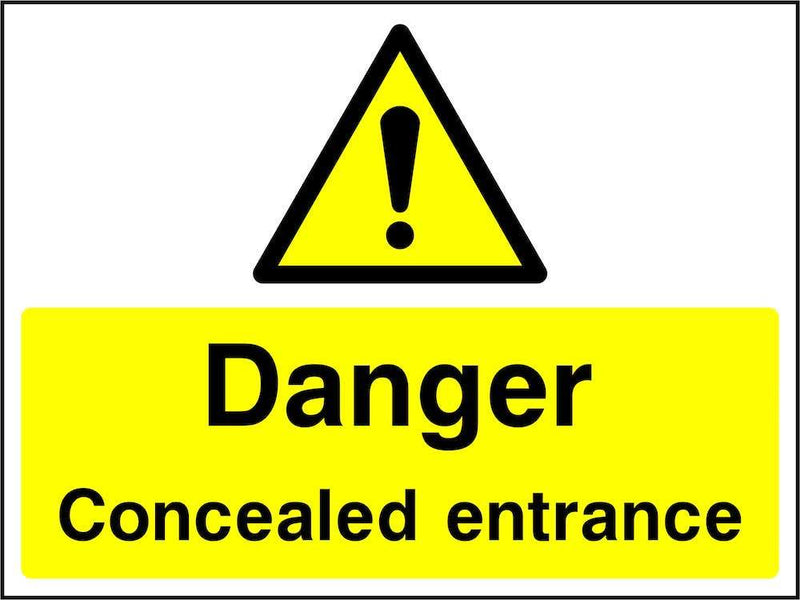 Danger: Concealed Entrance Sign | Elevate Signs