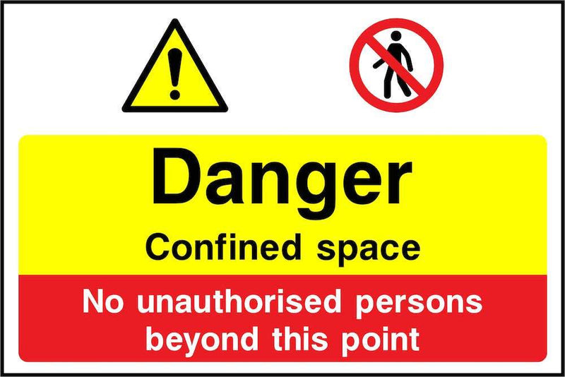 Danger: Confined Space Hazard Sign | Elevate Signs