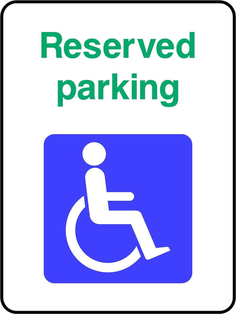 Disablility Reserved Parking Sign | Elevate Signs