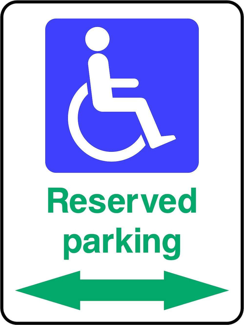 Disabled Reserved Parking Spaces Sign | Elevate Signs