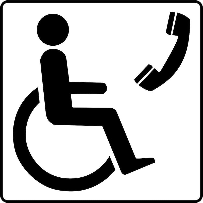 Phone Access for Wheelchair Users Sign