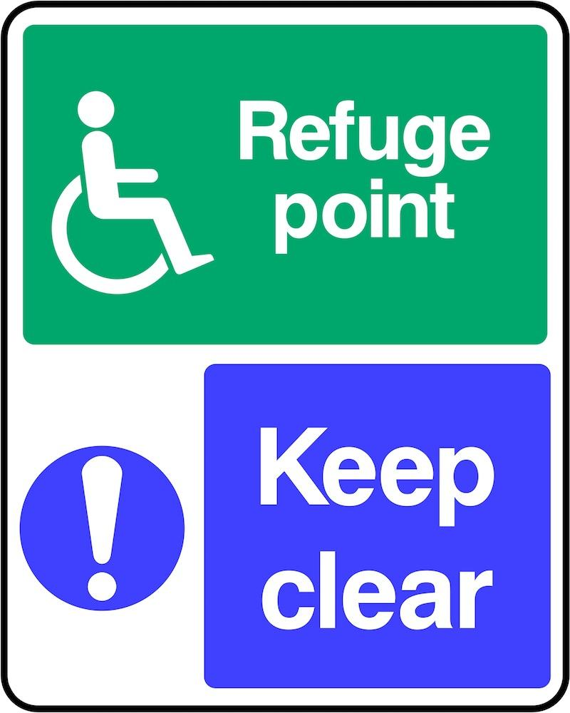 Disability Refuge Point: Keep Clear Sign | Elevate Signs