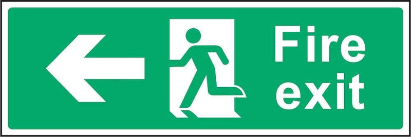 Fire Exit Sign: Left Arrow | Elevate Signs