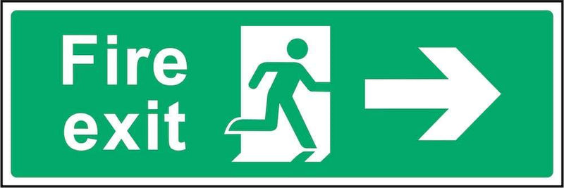 Fire Exit Sign: Right Arrow | Elevate Signs