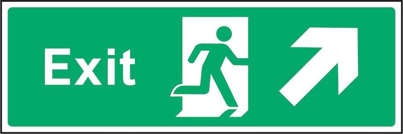 Exit Sign: Forward, Right Arrow | Elevate Signs