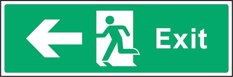 Exit Sign: Left Arrow | Elevate Signs