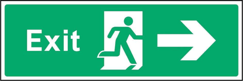 Exit Sign: Right Arrow | Elevate Signs