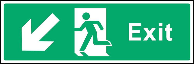 Exit Sign: Backward, Left Arrow | Elevate Signs