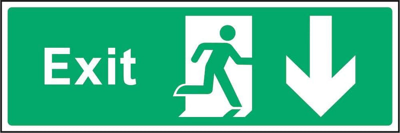 Exit Sign: Backward Arrow | Elevate Signs