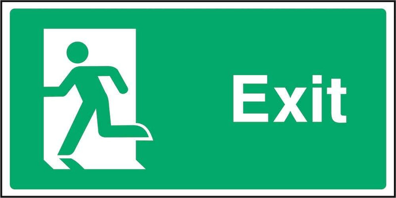 Exit Sign: Door on Left | Elevate Signs