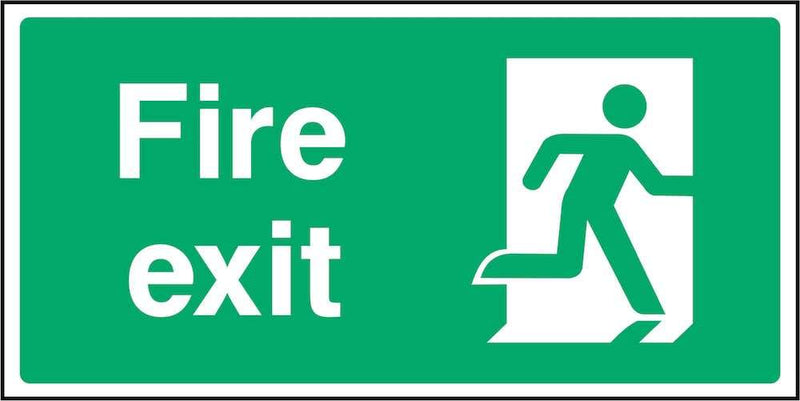 Fire Exit Sign: Door on Right | Elevate Signs