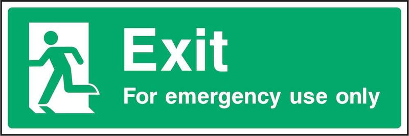 Exit For Emergency Use Only Sign | Elevate Signs