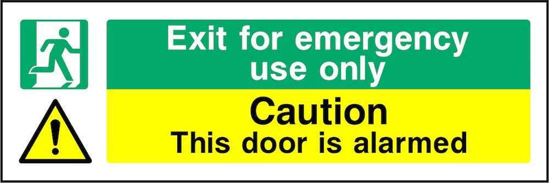 Exit For Emergency Use Only: Door Is Alarmed Sign | Elevate Signs