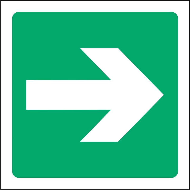 Emergency Escape Direction Sign: Right Arrow | Elevate Signs