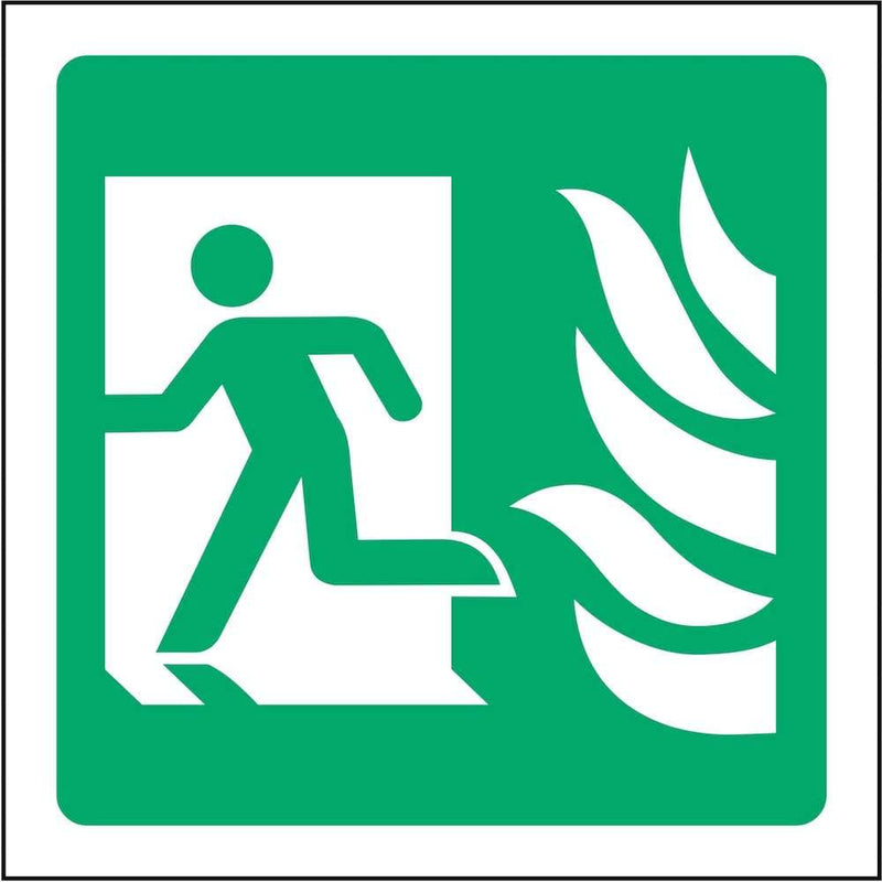 Fire Exit Sign: Door on Left | Elevate Signs