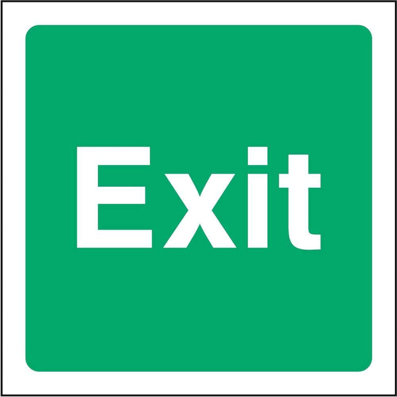 Square Emergency Exit Sign