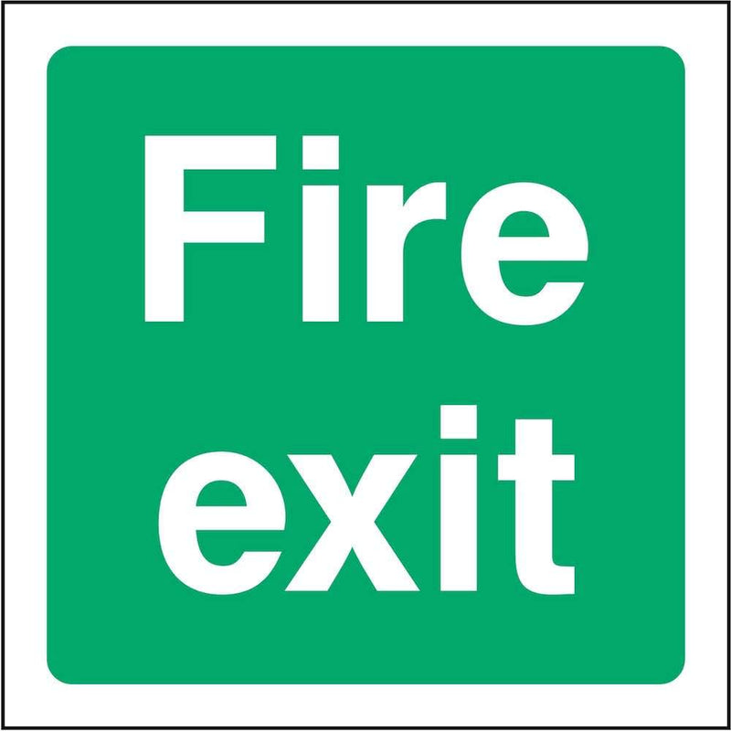 Square Fire Exit Sign