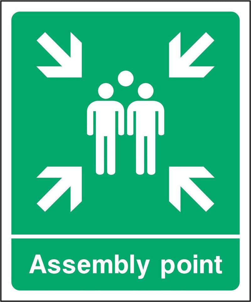 Assembly Point Sign: Arrows | Elevate Signs