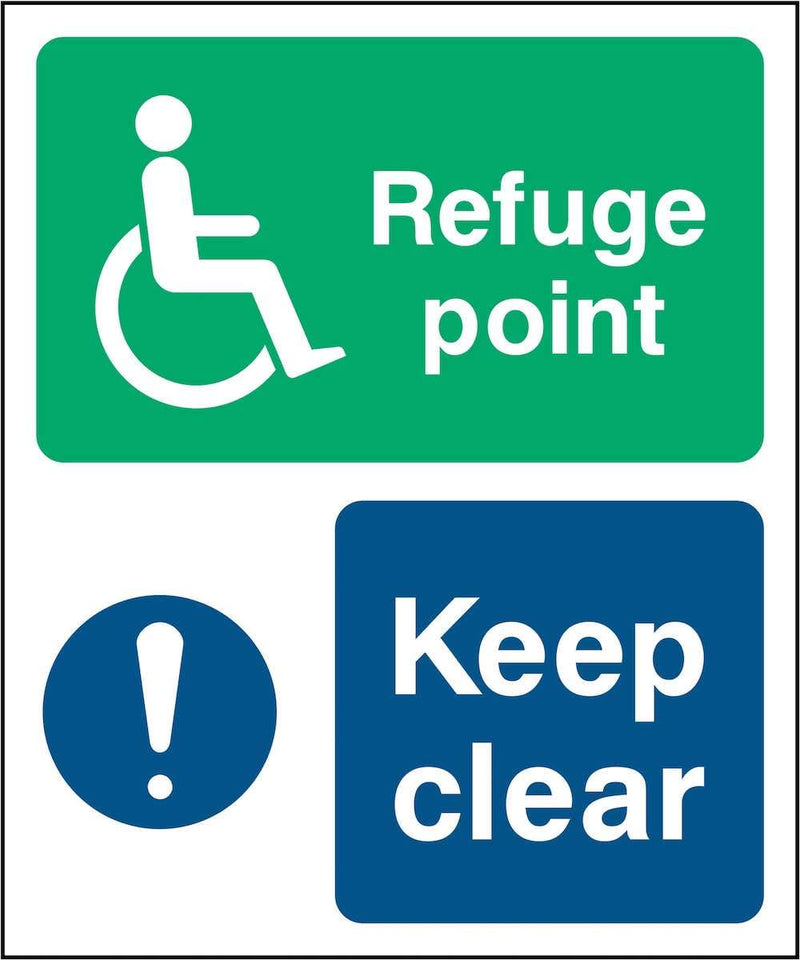Disability Refuge Point Sign: Keep Clear | Elevate Signs