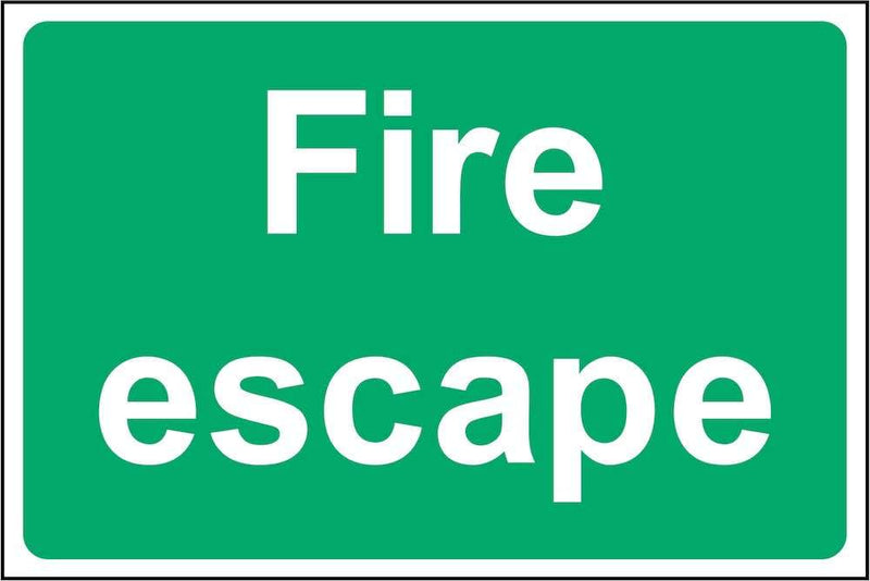 Green Fire Escape Sign | Elevate Signs