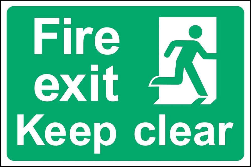 Fire Exit, Keep Clear Sign | Elevate Signs