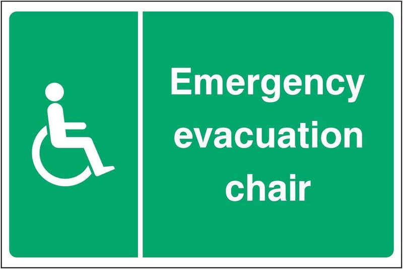 Emergency Evacuation Chair Sign | Elevate Signs