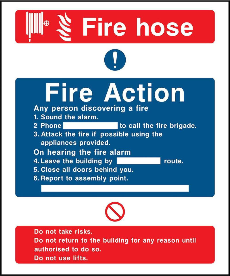 Fire Action Notice Sign: For Fire Hoses | Elevate Signs