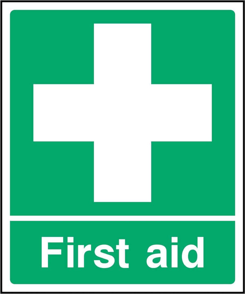 First Aid Sign: Green & White Cross | Elevate Signs