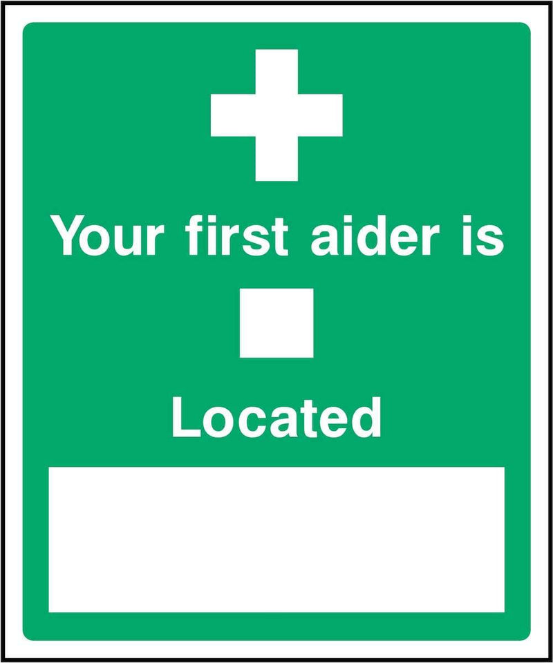 First Aider Sign: Editable Location | Elevate Signs