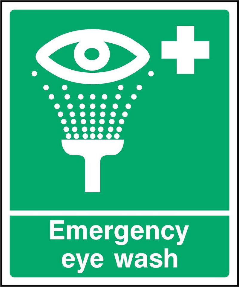 First Aid Sign: Emergency Eye Wash | Elevate Signs