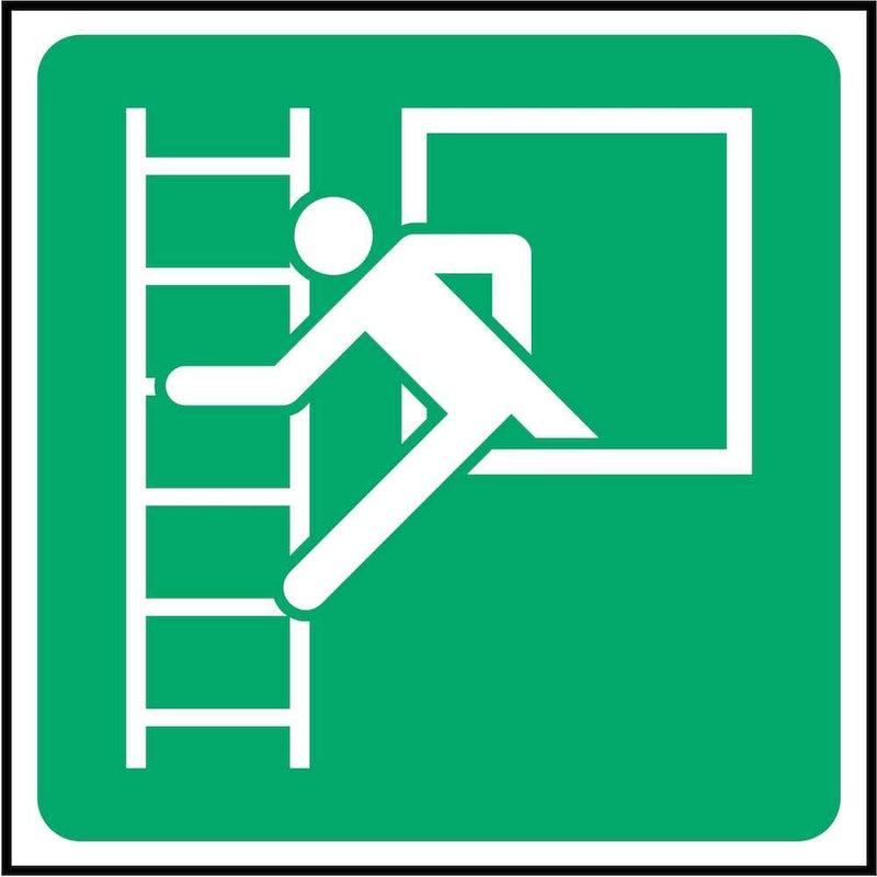 Emergency Window Sign: With Escape Ladder | Elevate Signs