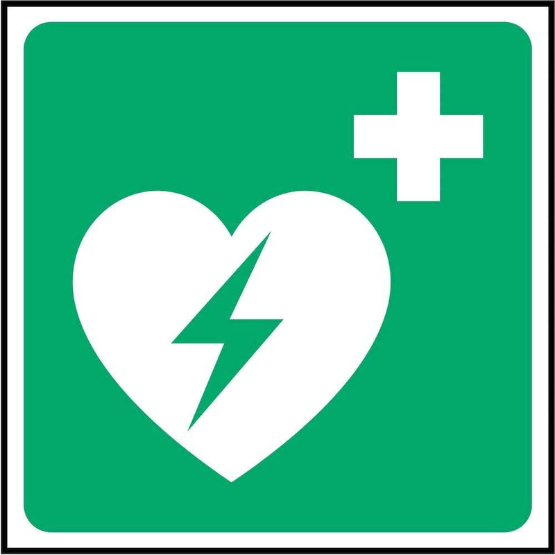 First Aid Sign: Emergency Defibrillator (Image-Only) | Elevate Signs