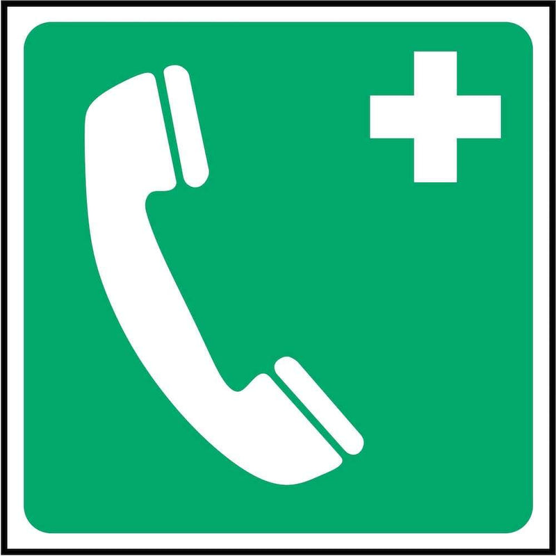 First Aid Sign: Emergency Telephone (Image-Only) | Elevate Signs
