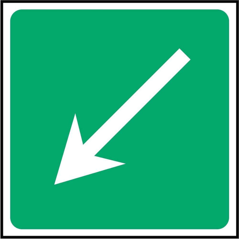 First Aid Direction Sign: Angled Arrow | Elevate Signs