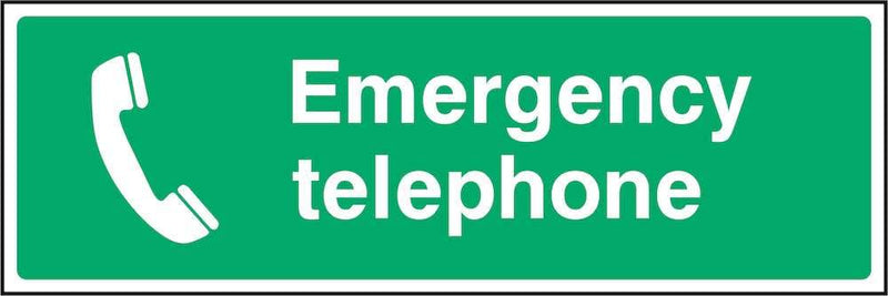 First Aid Sign: Emergency Telephone | Elevate Signs