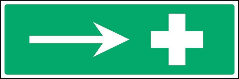 First Aid Direction Sign: Right Arrow | Elevate Signs