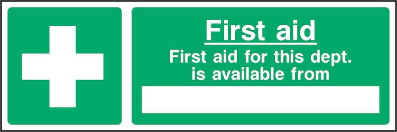 First Aid Sign: Editable Available From Section | Elevate Signs