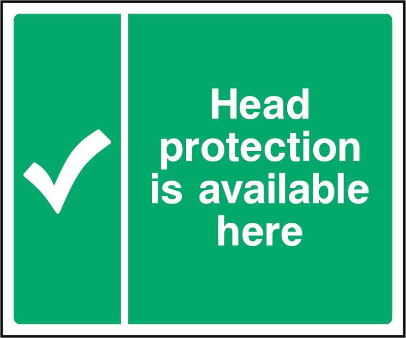 First Aid Sign: Head Protection Available | Elevate Signs